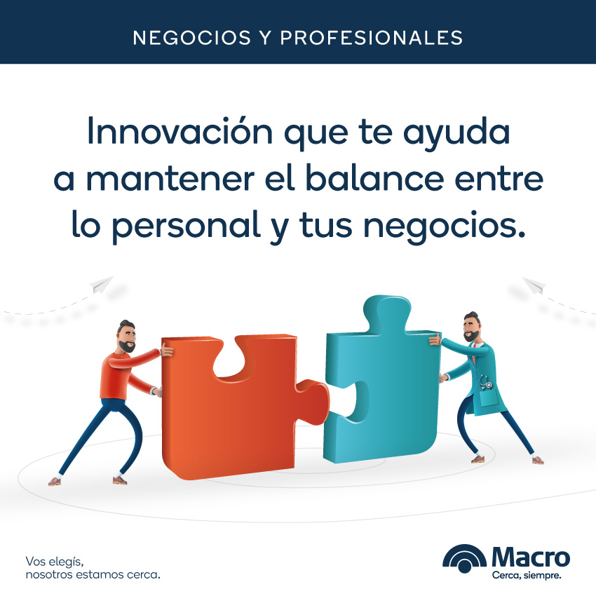 Macro presenta una propuesta para negocios y profesionales
